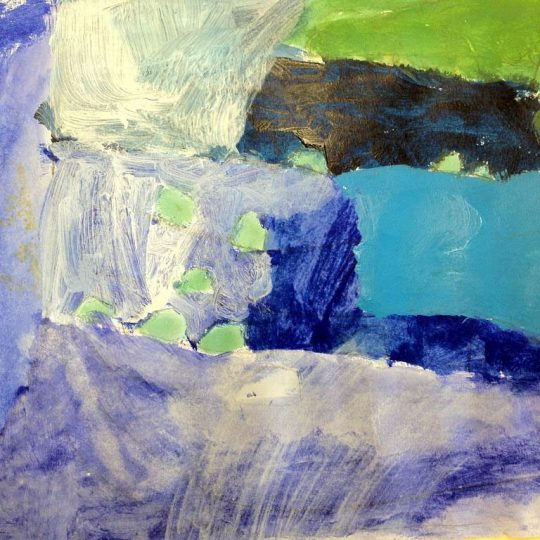 "Course Artwork – Giselle, 6 years, ""A Waterfall"""