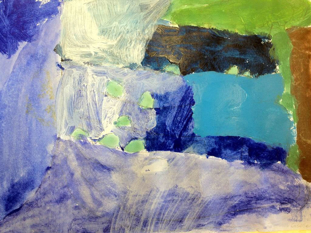 """Course Artwork – Giselle, 6 years, """"A Waterfall"""""""