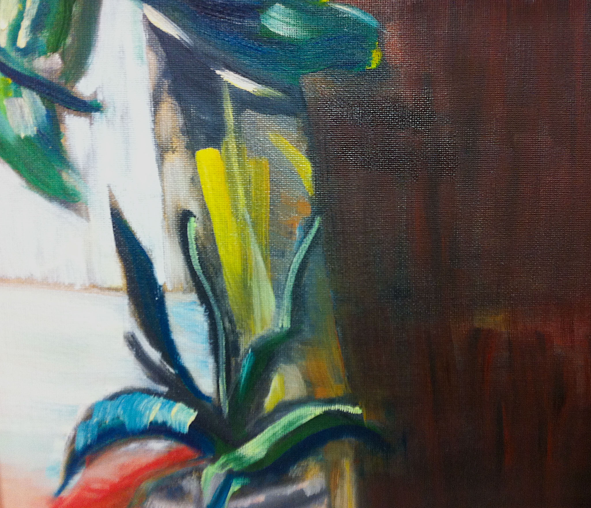Course Artwork – Plant Life, Oil on Board, 2016