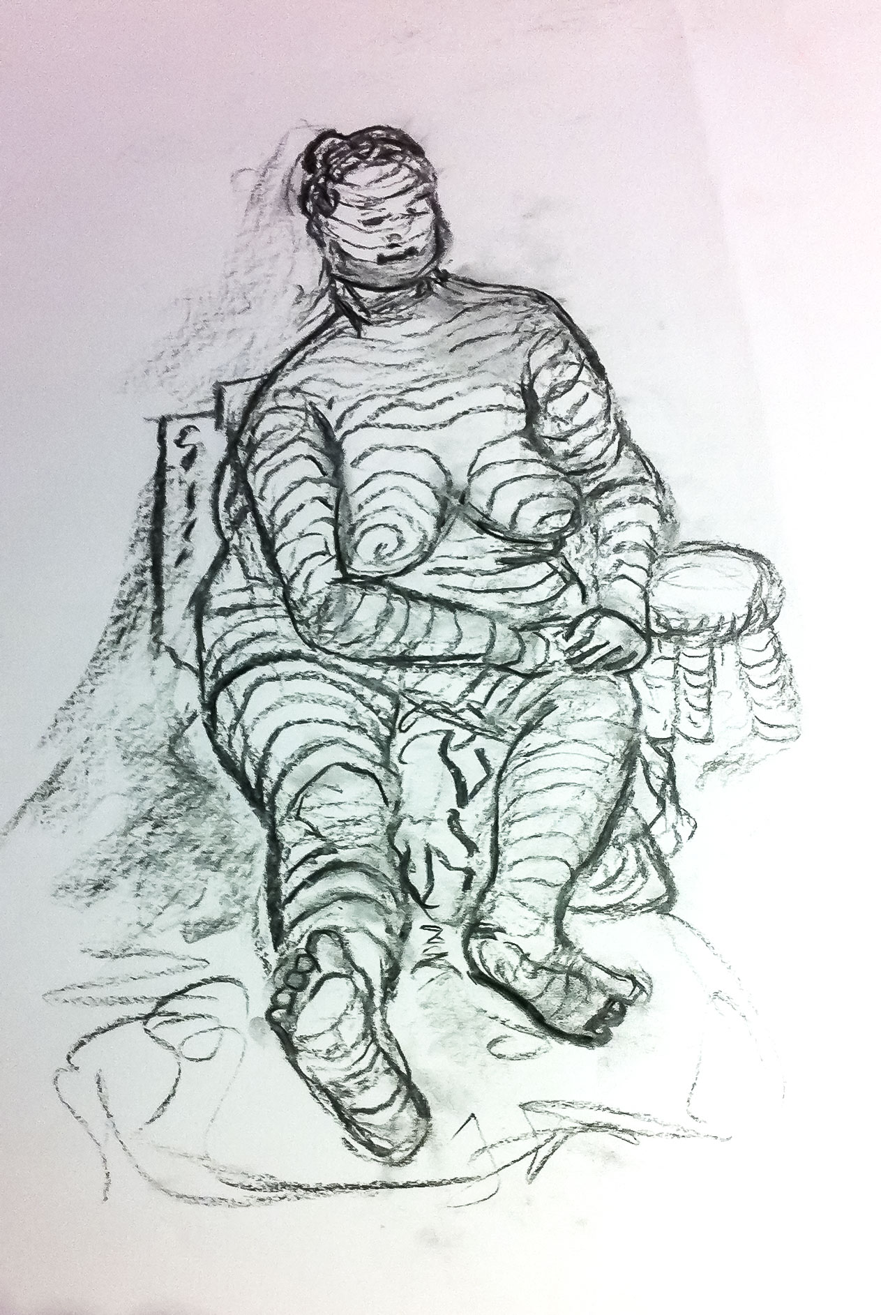 Margo Chinneck, Lifedrawing exploring contours