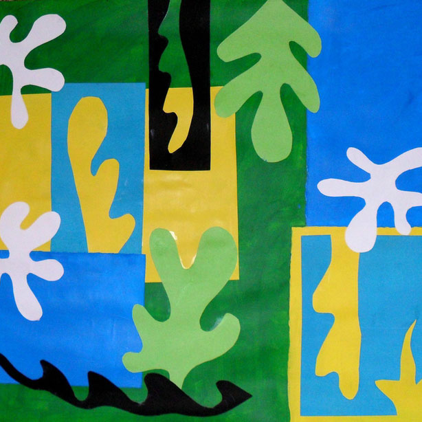 Course Artwork – Collage and painting after Matisse – Click to view course details
