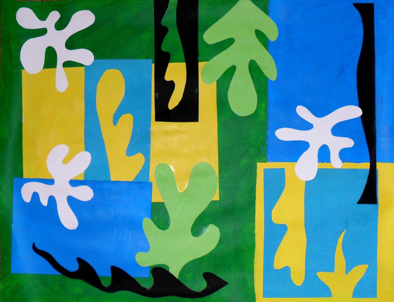 Course Artwork – Collage and painting after Matisse