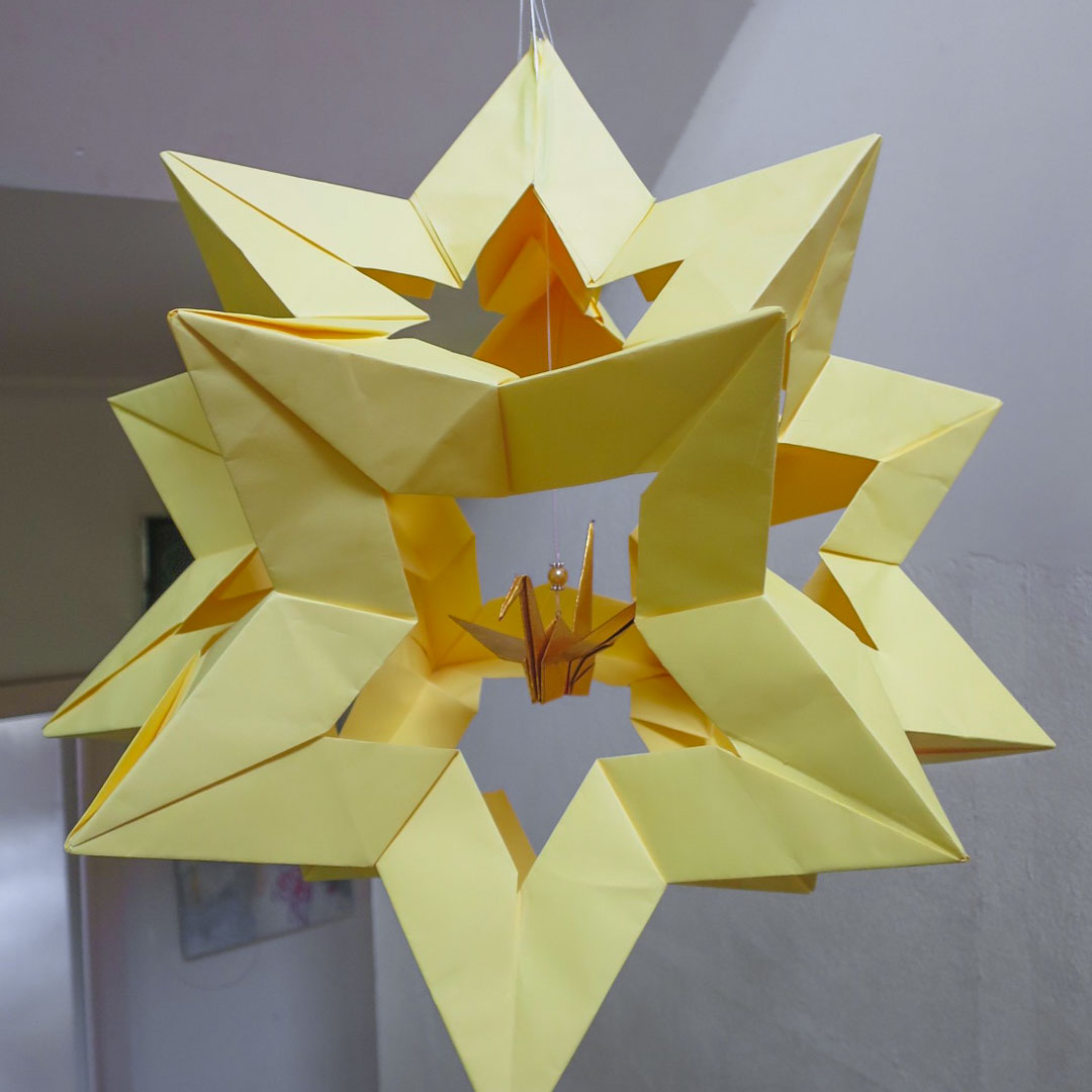 Course Artwork – Midori Furze, Starball, Paper and origami, 2017 – Click to view course details
