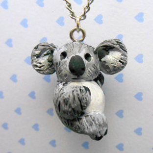 Course Artwork – Polymer Clay Koala Necklace – Click to view course details