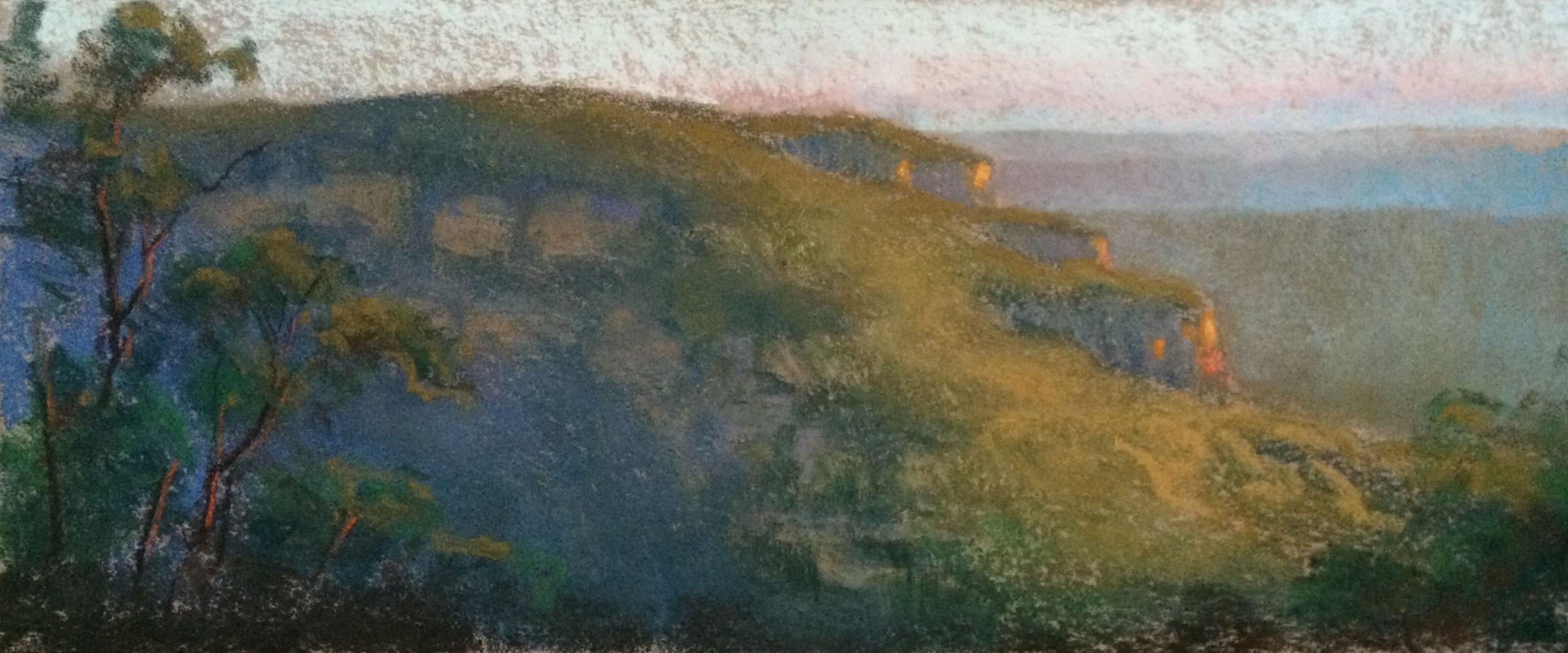 Course Artwork – Pastel Landscape, Tam Cao