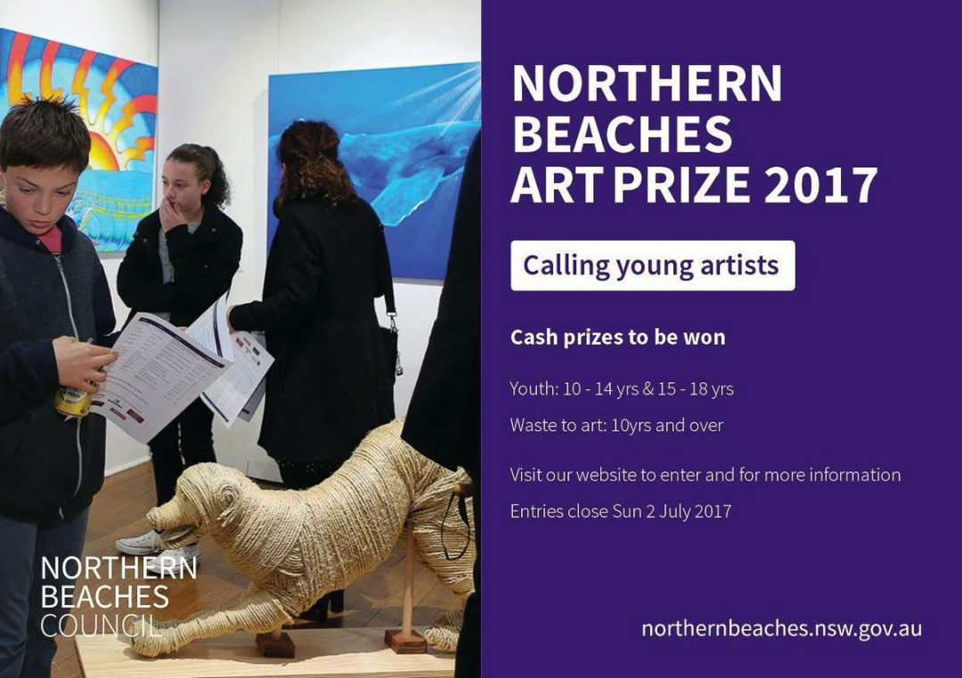 Northern Beaches Art Prize 2017 – Calling Young Artists flyer