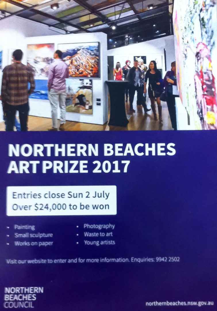Northern Beaches Art Prize 2017 Flyer