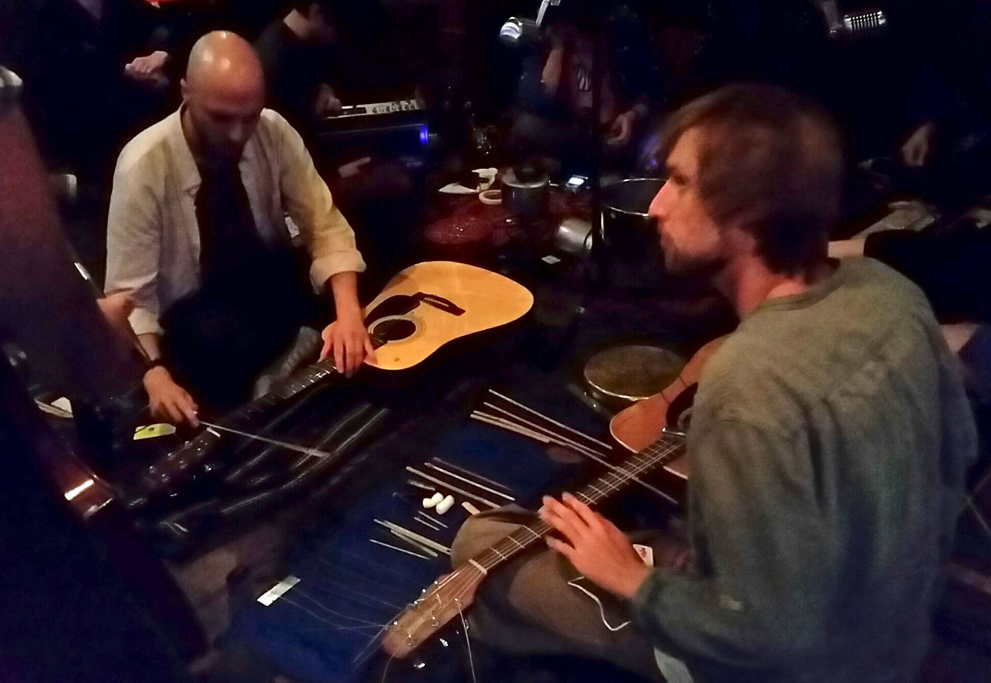 SONIC MOVES, May 2017, Kave Bar Newport, Performing: The small thin sharp piece of wood