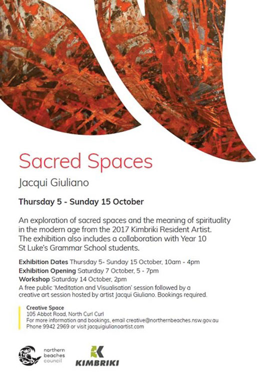 Jacqui Giuliano, Sacred Spaces Exhibition