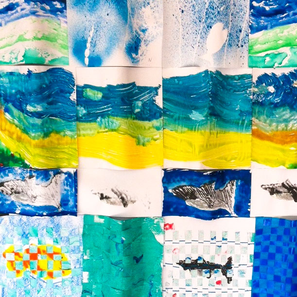 Course Artwork – Jonas and Niklas Kappelmann, Ocean Project, Kids Art Club, 2017 – Click to view course details