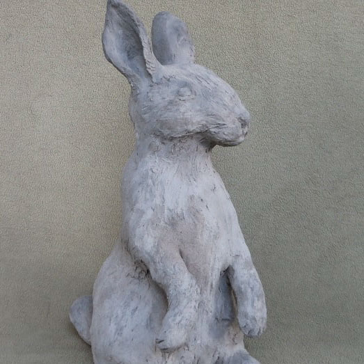 Course Artwork – Rabbit sculpture using Pal Tiya – Click to view course details