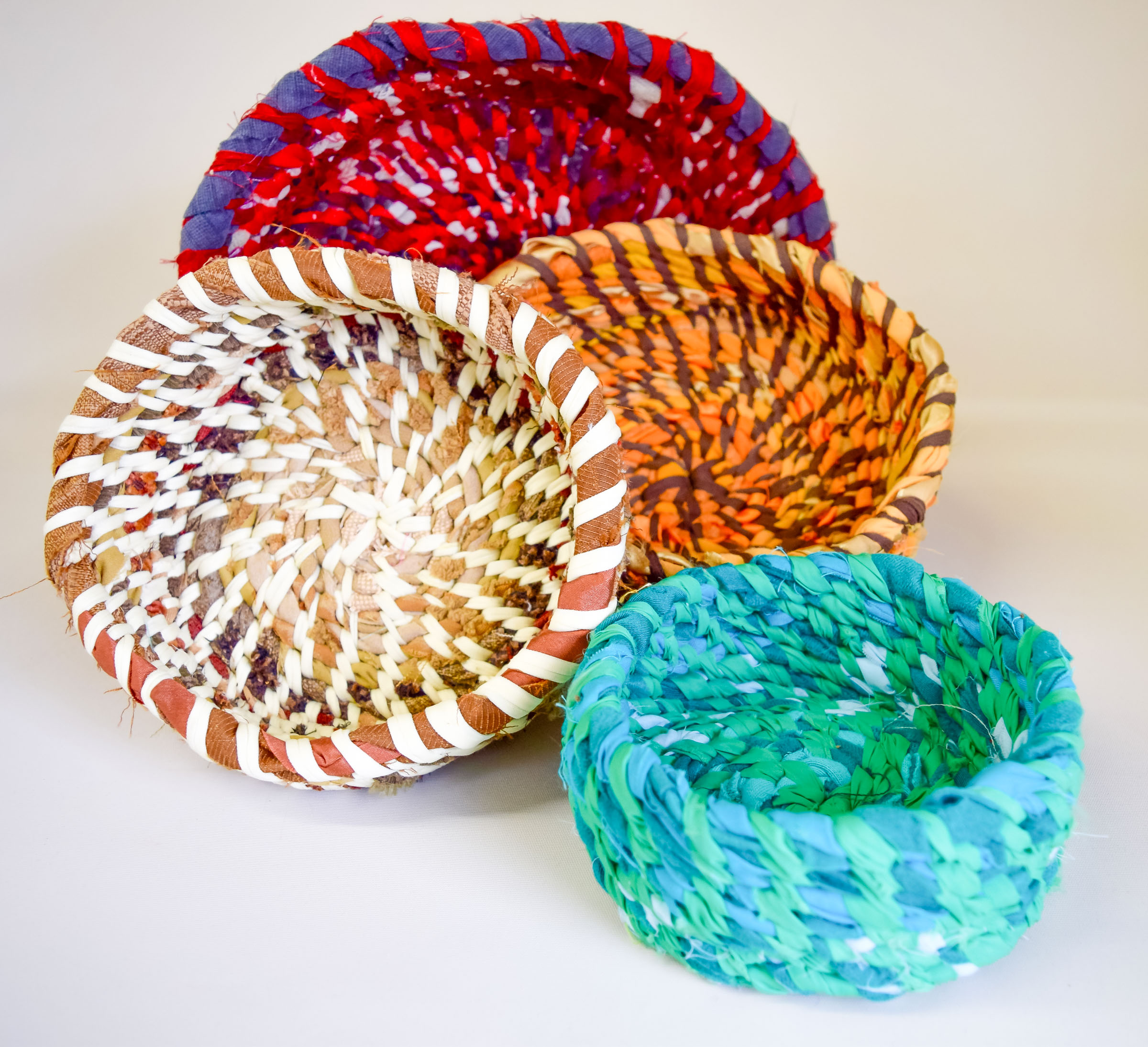 Class Artwork – Coiled Fabric Vessels
