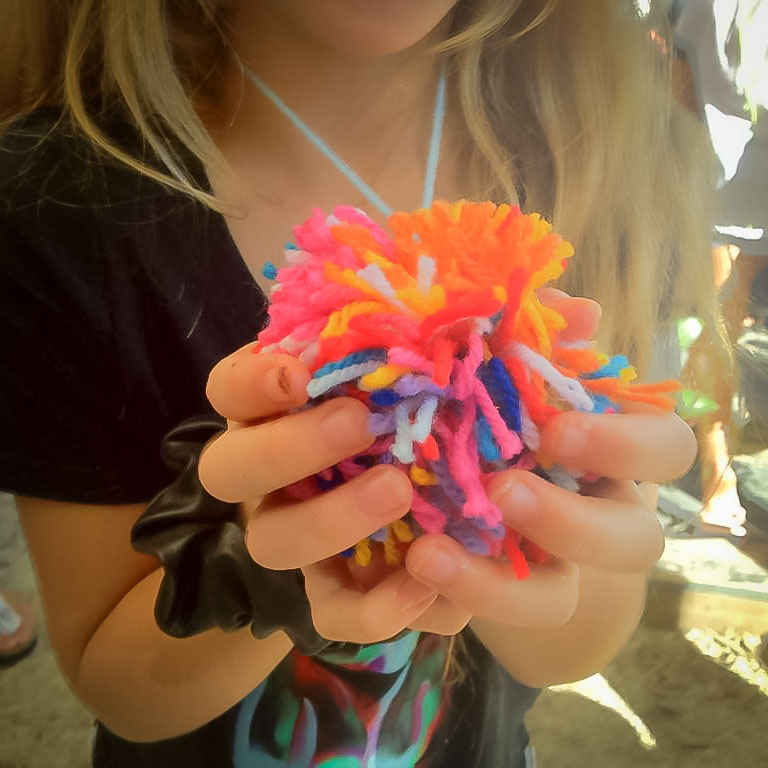 Class Artwork – Fabulous Pom Poms – click to view workshop details