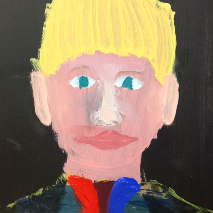 Class Artwork – Selfies Using your Image and Acrylic Paint – click to view class details