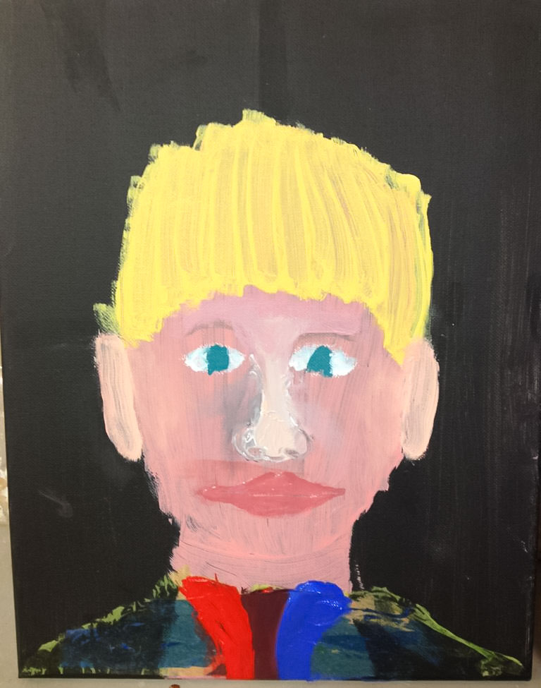 Class Artwork – Selfies Using your Image and Acrylic Paint