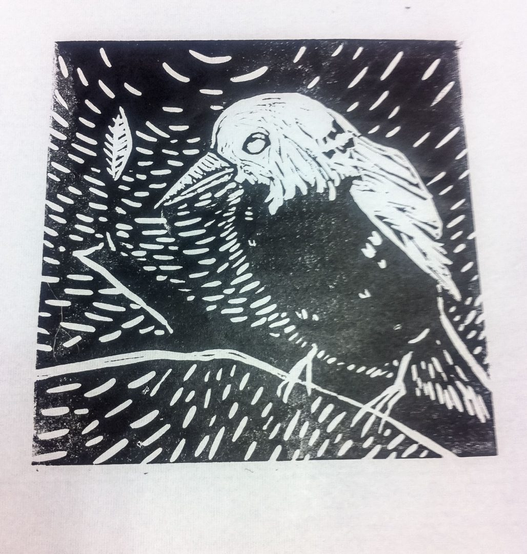 Class Artwork – Lino Printmaking Student Work