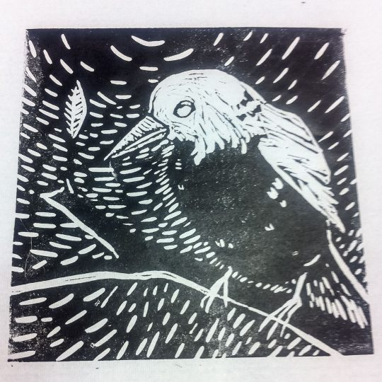 Class Artwork – Lino Printmaking Student Work – click to view class details