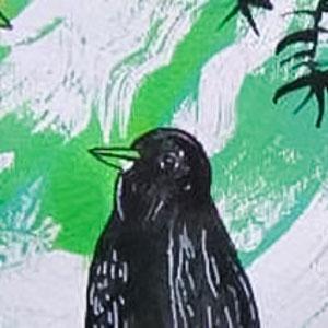 Class Artwork – Sydney Bush Birds – Kids Art Workshop: Printmaking and Collage – click to view class details