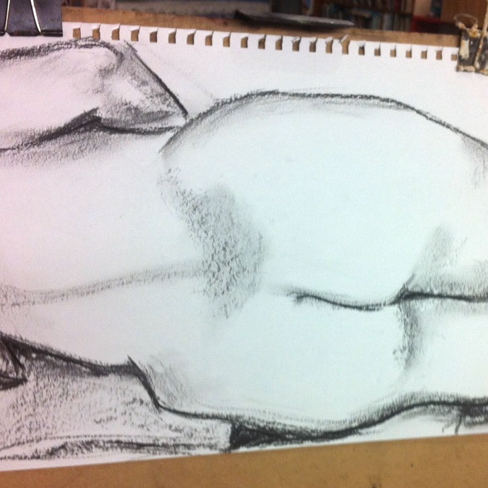 Class Artwork – Lifedrawing with the Model, 2018 – click to view class details