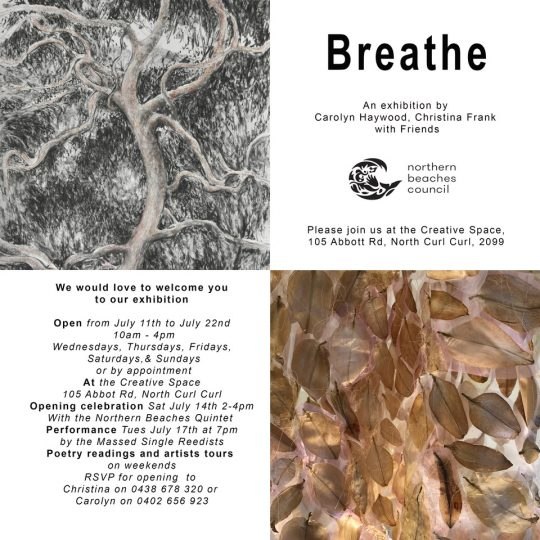 Breathe Invitation, Christina Frank