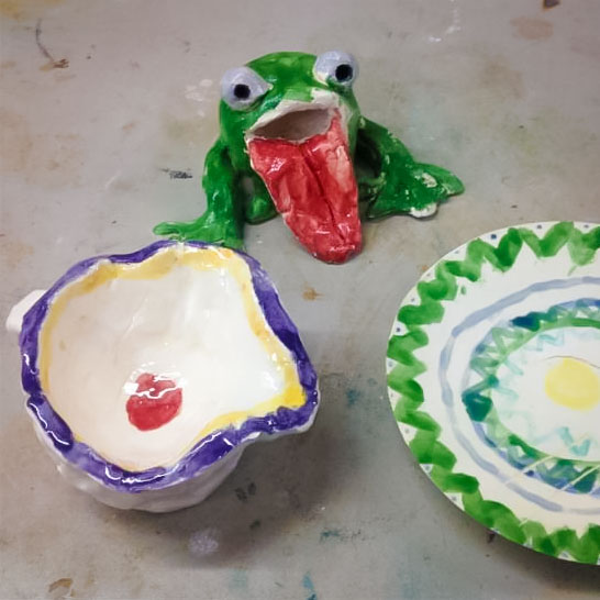 Class Artwork – Sculpt in Clay for Fathers Day – click to view class details