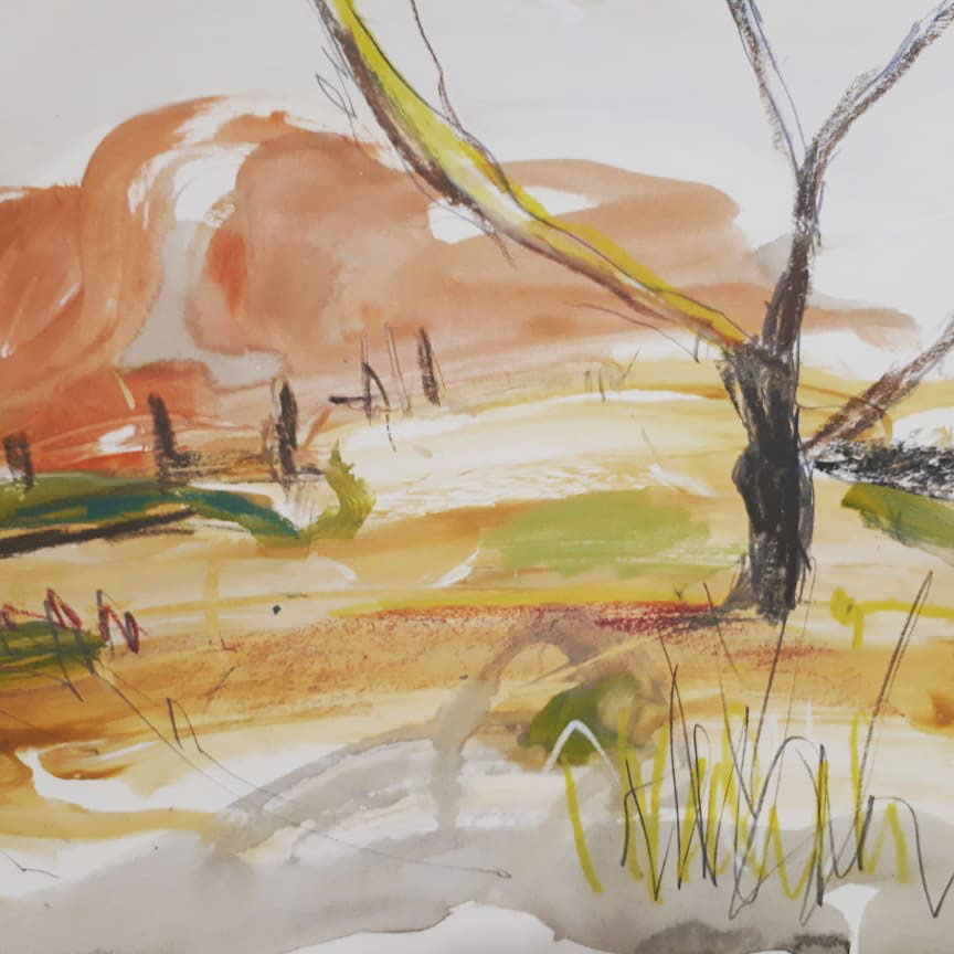 Class Artwork – Rachel Carroll – Multi Media Painting Workshop 2018 – click to view class details