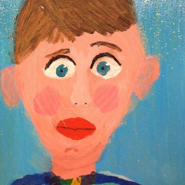 Class Artwork – Self Portrait 2 – Kids Art Club 2018 – click to view class details