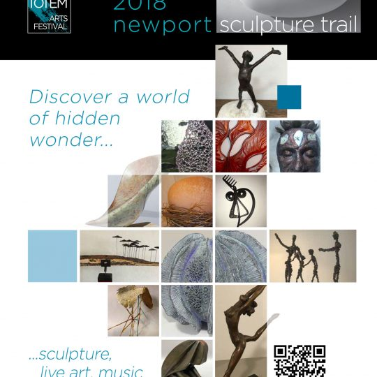 Newport Sculpture Trail 2018 poster