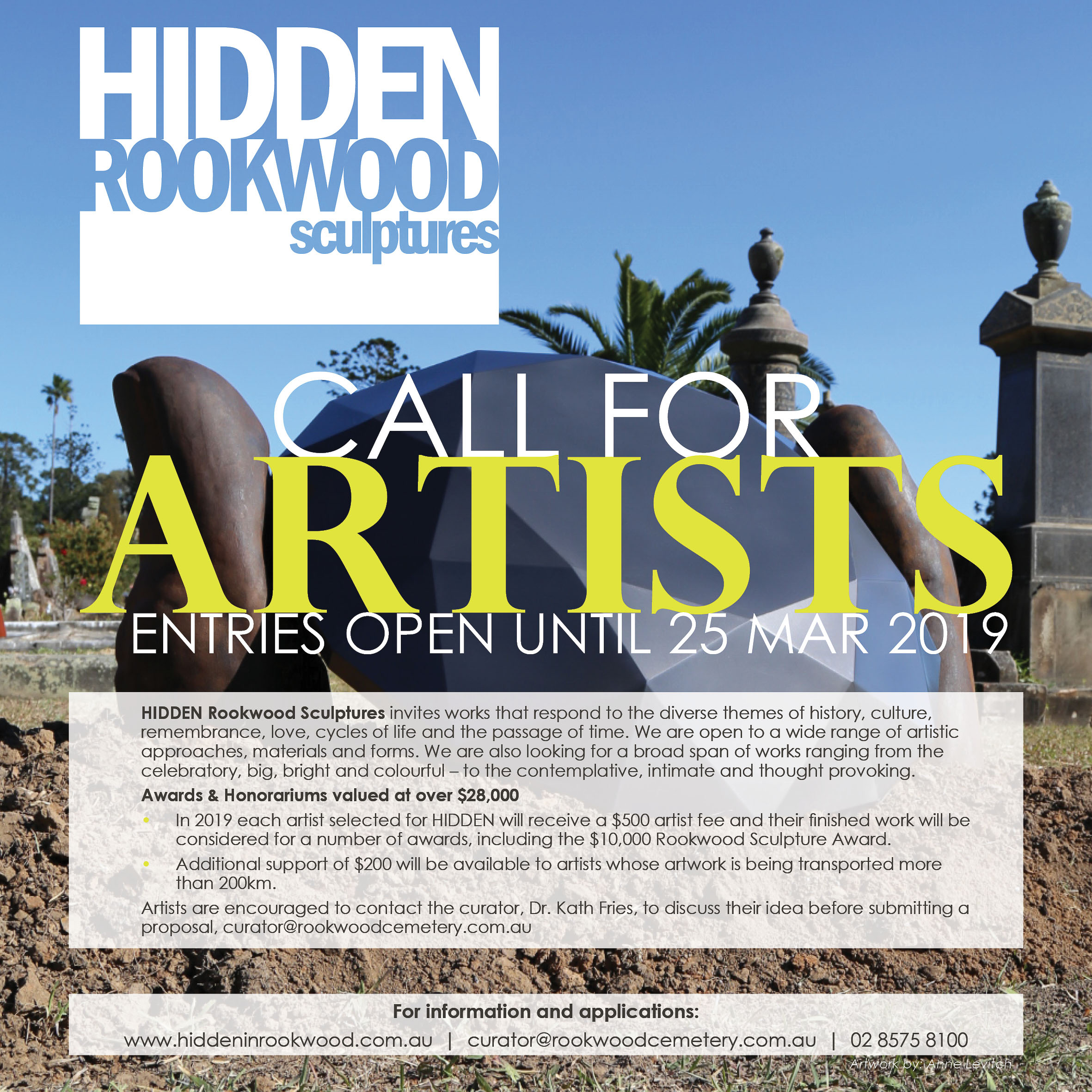 Rookwood Hidden Sculptures Call for Artists 2019