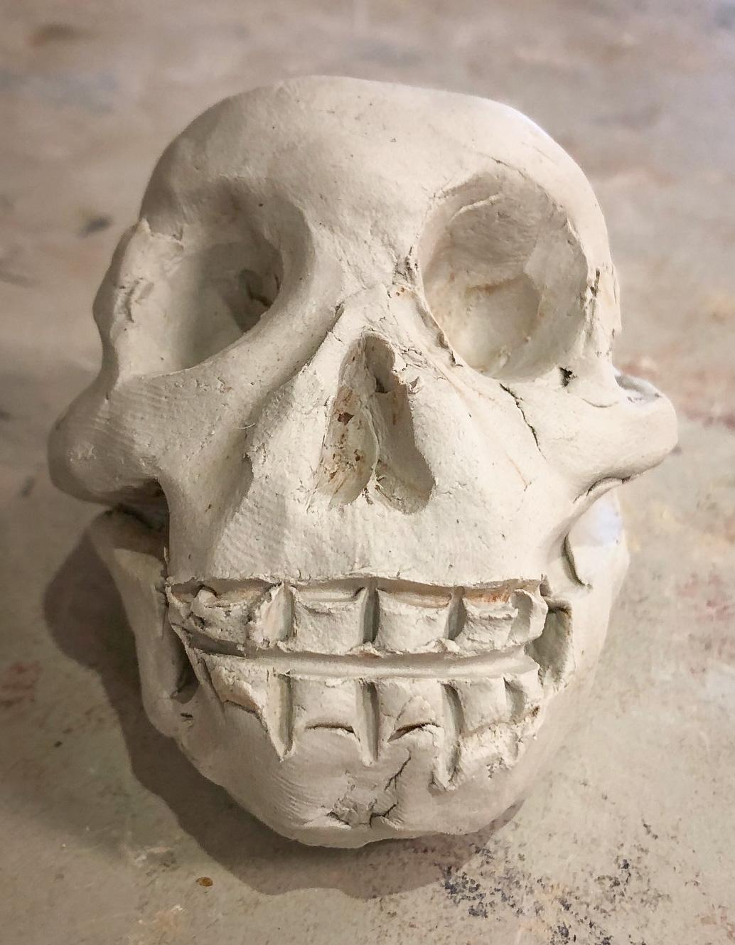 Class Artwork – Handbuilding in Clay: The Skull