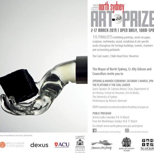 North Sydney Art Prize 2019 Invitation