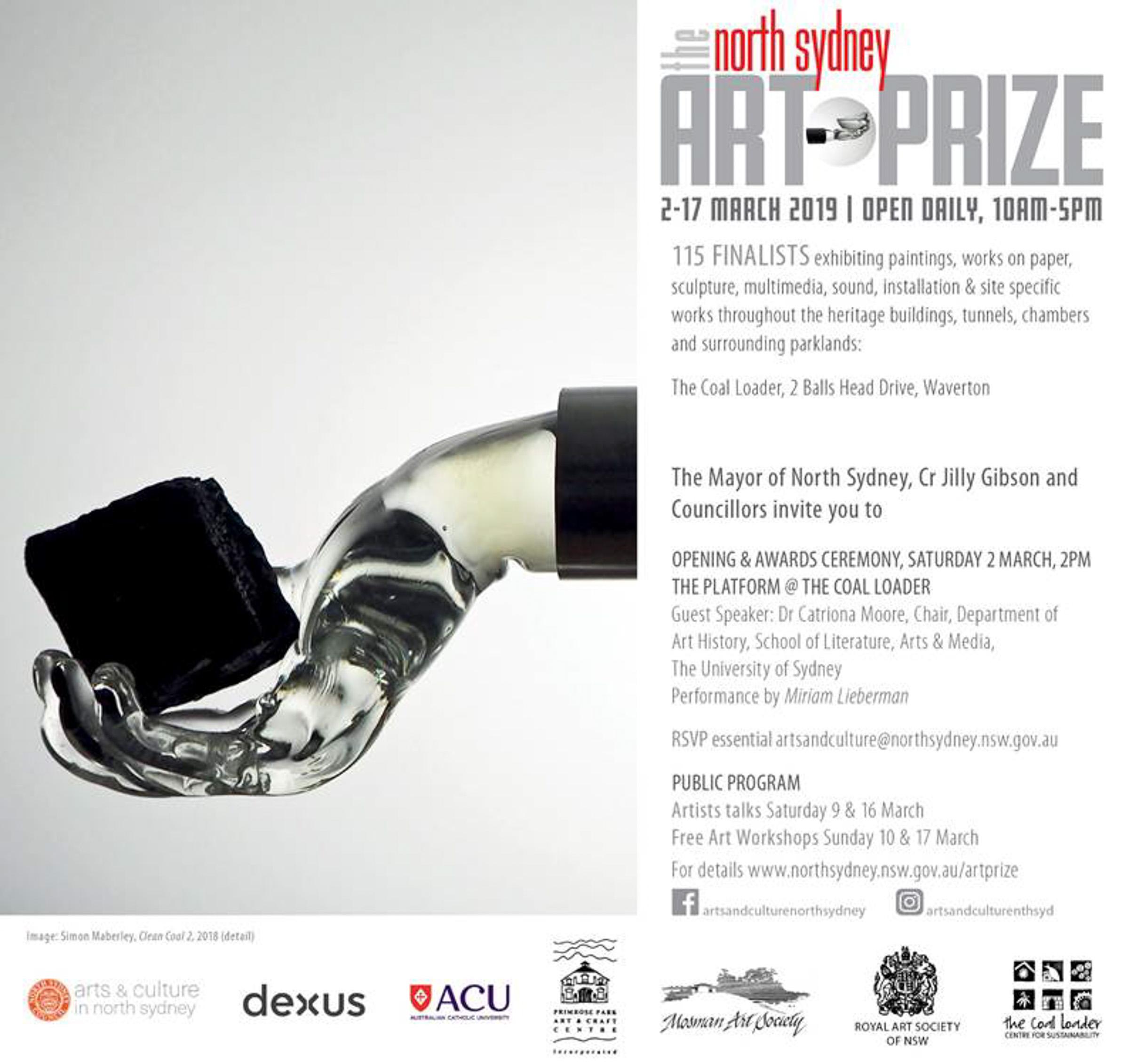 North Sydney Art Prize 2019 Invitation