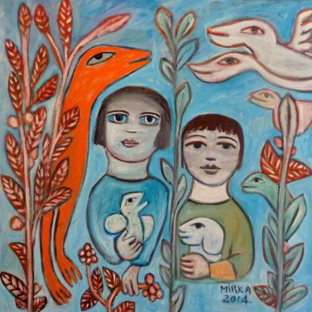 Class Artwork – Mirka Mora, Young Lovers in the Garden, 2014 – click to view class details