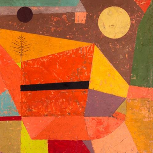 Class Artwork – Paul Klee, Joyful Mountain Landscape – click to view class details