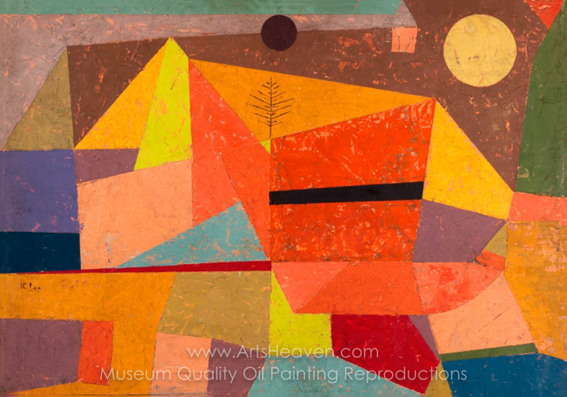 Class Artwork – Paul Klee, Joyful Mountain Landscape