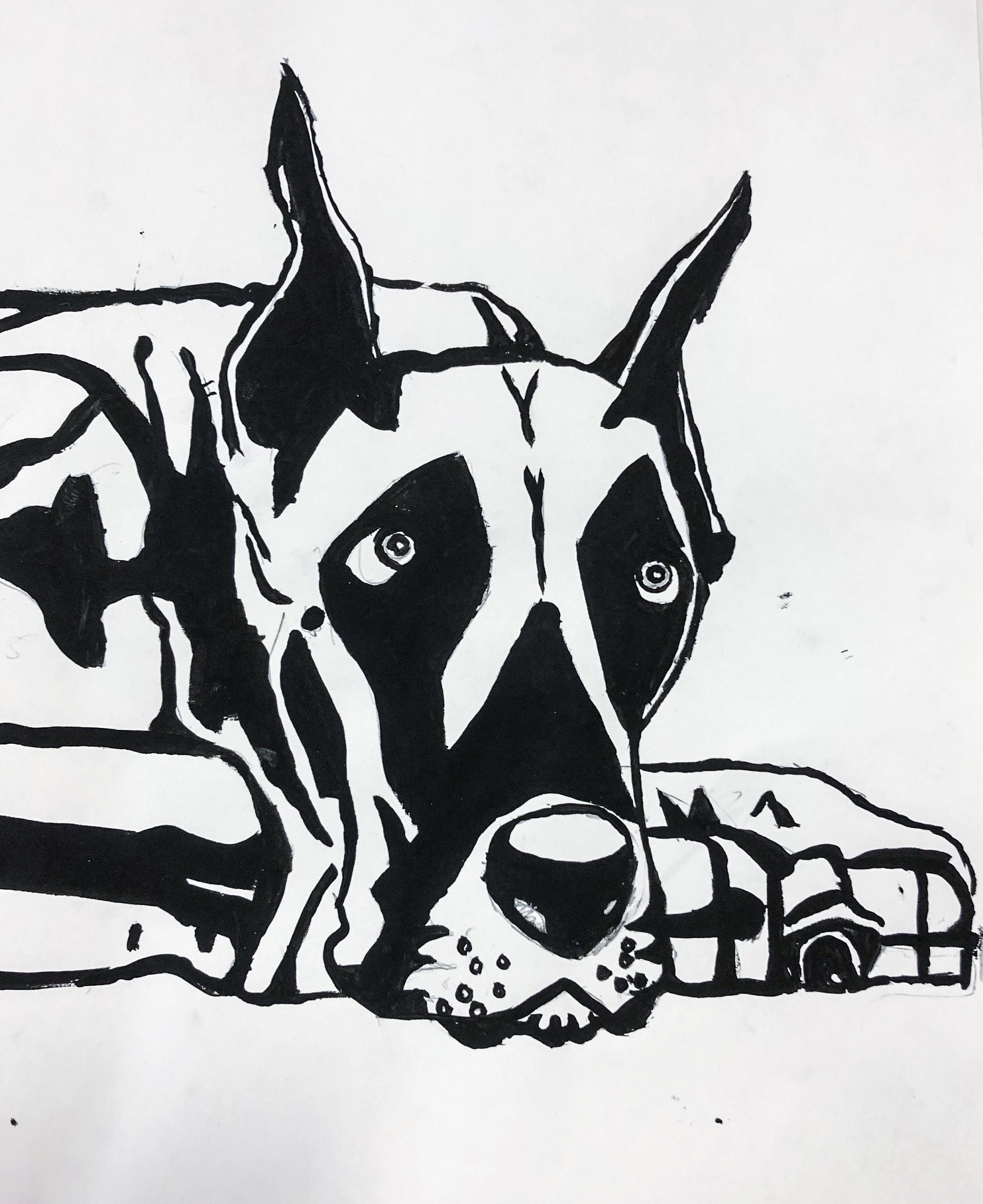 Class Artwork – Stencilling, inspired by Banksy