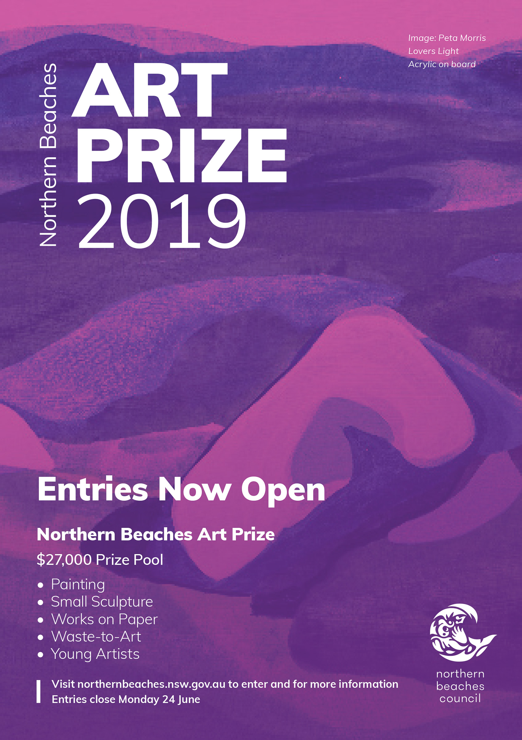 Northern Beaches Art Prize 2019 Flyer