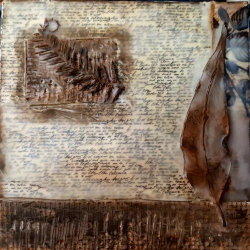 Encaustic Painting by Rachel Carroll