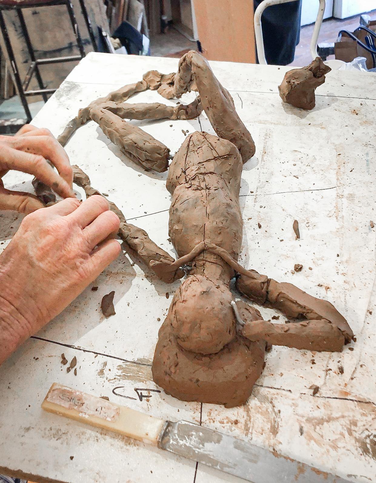 Class Artwork – Sculpture Lifeclass, Term 3 2019