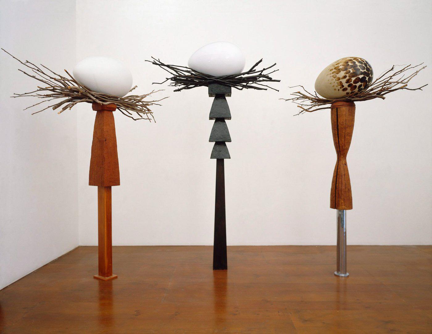 Example Artwork – Birds Nest and Egg Sculptures, Brett Whiteley