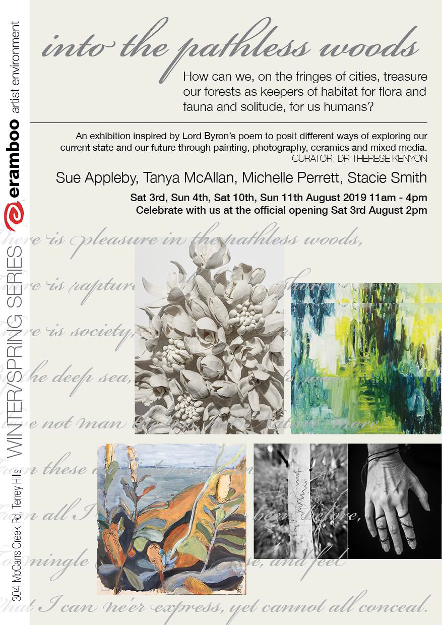Into the Pathless Woods Exhibition flyer