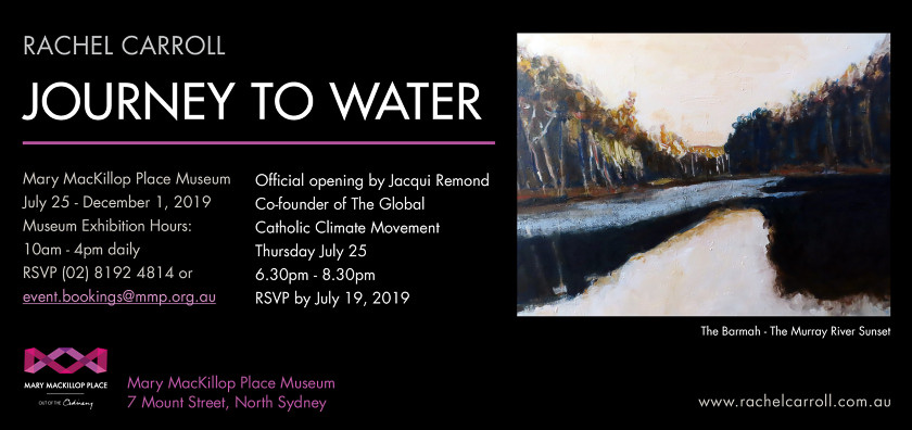 Event Image – Rachel Carroll, Journey To Water Exhibition invitation