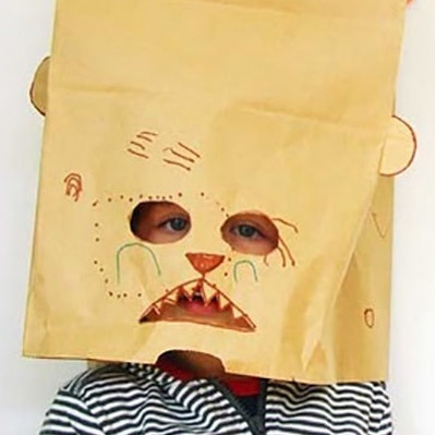 Example Artwork – Paper Bag Masks: Drawing, Sculpture and Collage Workshop – click to view class details