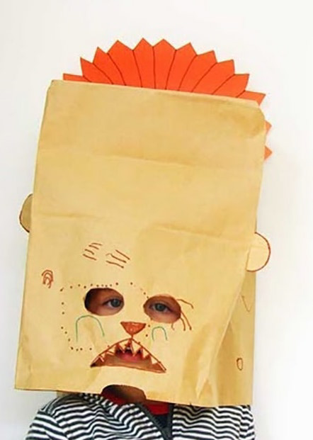 Example Artwork – Paper Bag Masks: Drawing, Sculpture and Collage Workshop