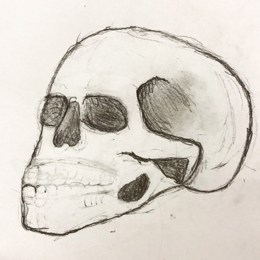 Class Artwork – Tattooed Skulls: Bas Relief Carving and Casting Workshop – click to view class details