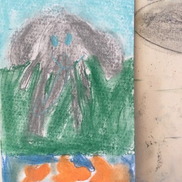 Class Artwork – Kids Art Club - Magical Waterholes – click to view class details