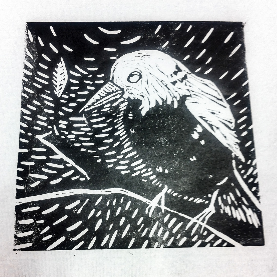 Class Image – Bird Lino Cuts - Printmaking and Drawing – click to view class details