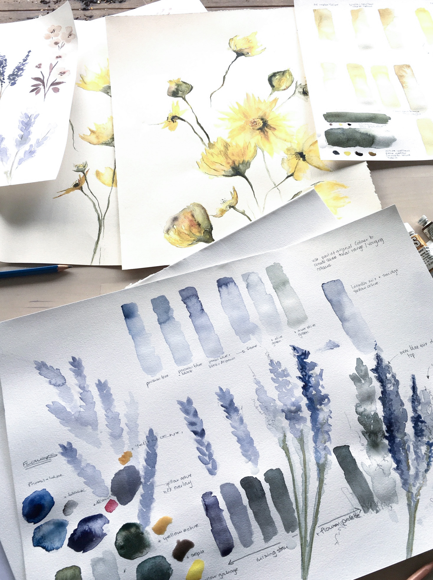 Class Image – Watercolour Workshop Artwork