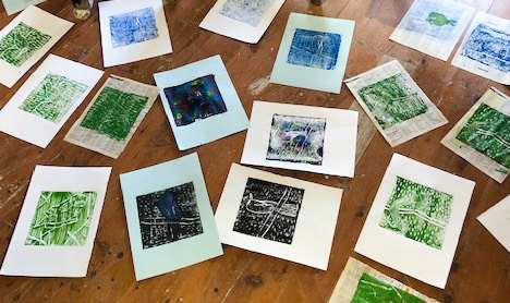 Class Image – Collection of Monoprints - 2020