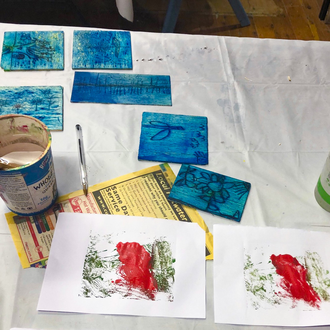 Class Image – Painting and Monoprinting - Teens Art Club – click to view class details